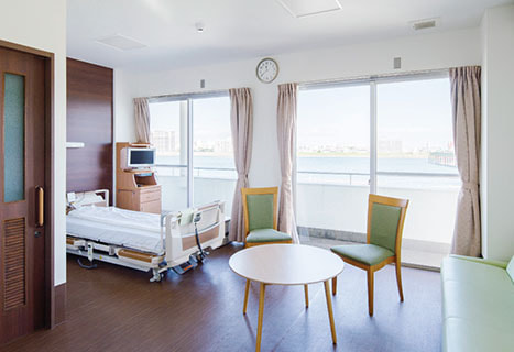病室の内観写真