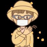 花粉症対策のイラスト